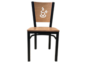 Metal Restaurant Chair-Coffee Cup